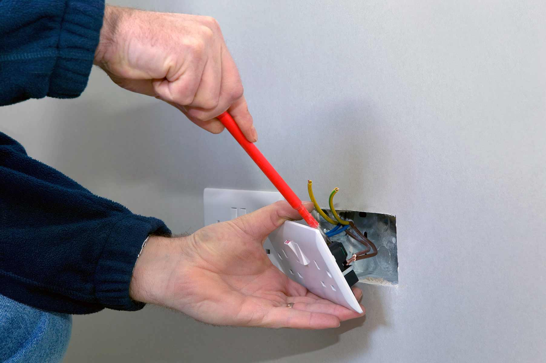 Our electricians can install plug sockets for domestic and commercial proeprties in Rainham and the local area.